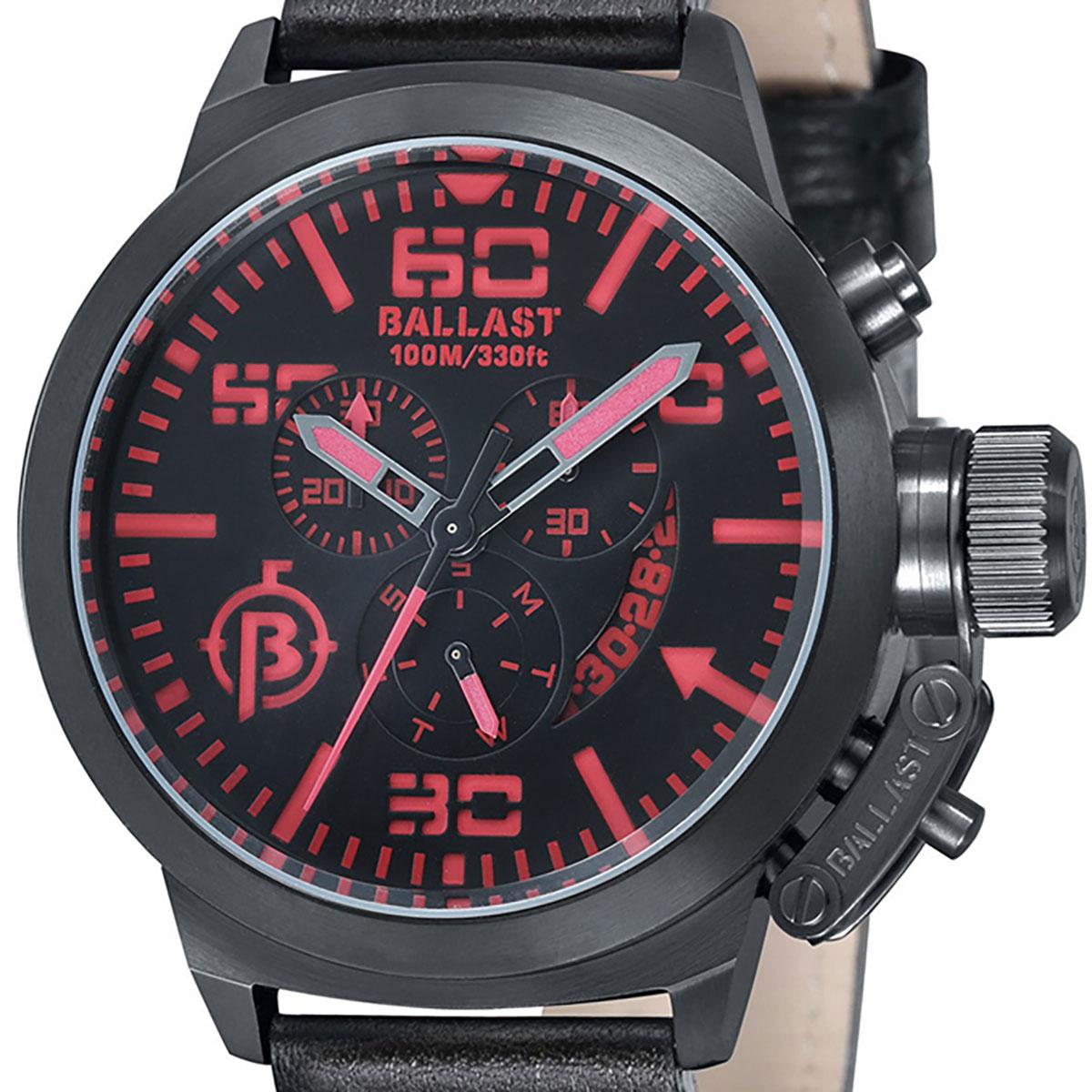 【残り1点】BALLAST バラスト 電池式クォーツ 腕時計 [BL-3101-08] 並行輸入品 デイデイト クロノグラフ