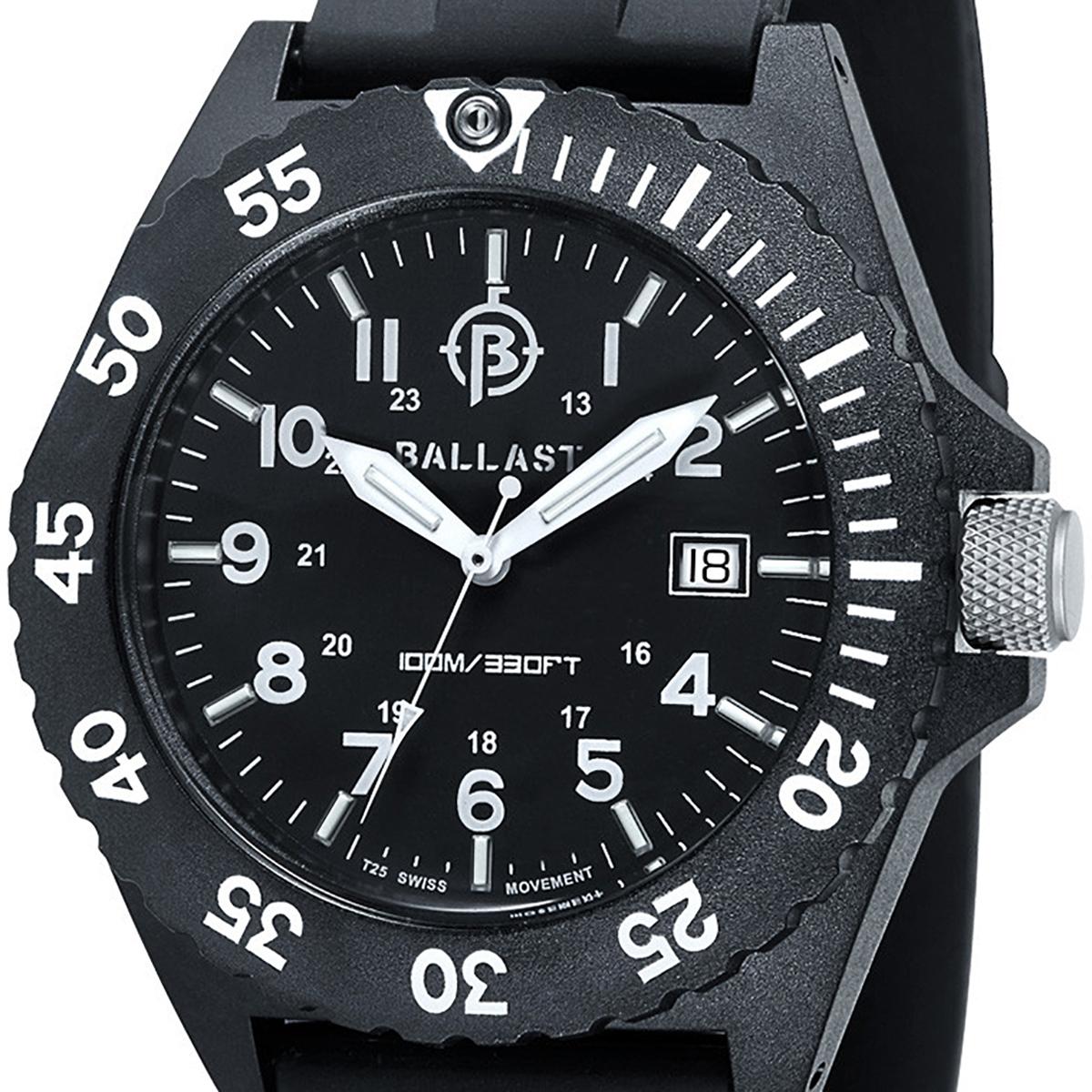 BALLAST バラスト クォーツ 腕時計 メンズ ミリタリー イギリス SWISS MADE [BL-3118-01] 並行輸入品 純正ケース メーカー保証24ヶ月