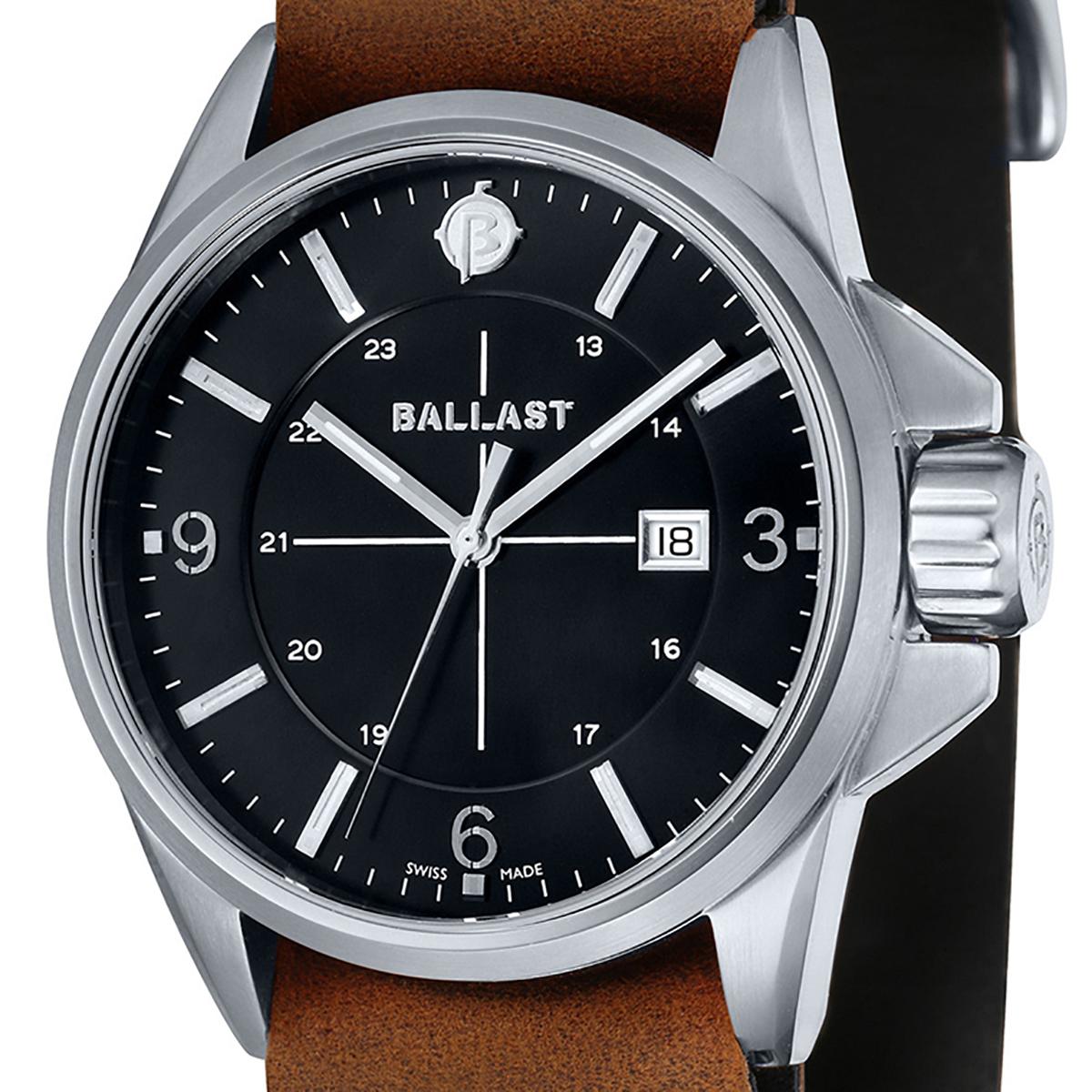 【残り1点】BALLAST バラスト クォーツ 腕時計 メンズ ミリタリー イギリス SWISS MADE [BL-3132-01] 並行輸入品 純正ケース メーカー保証24ヶ月