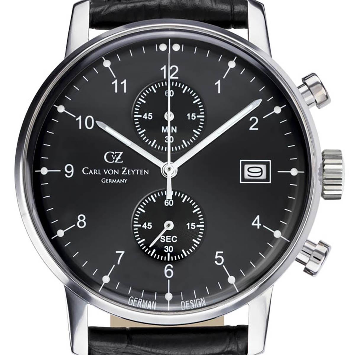 Carl von Zeyten カール・フォン・ツォイテン 電池式クォーツ 腕時計 [CvZ0007BK] 正規品  クロノグラフ