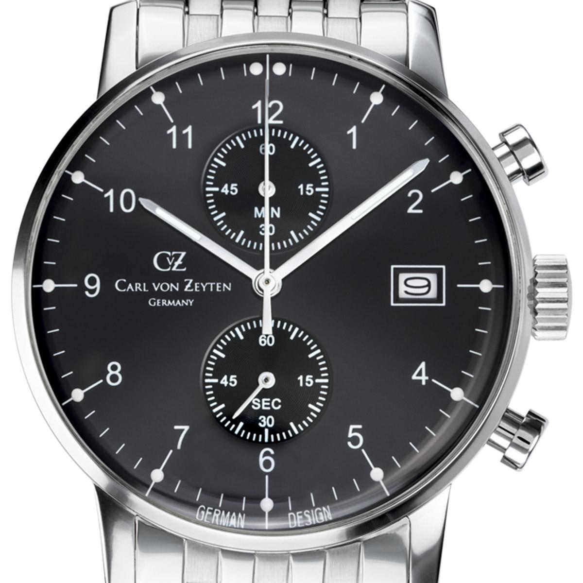Carl von Zeyten カール・フォン・ツォイテン 電池式クォーツ 腕時計 [CvZ0007BKMB] 正規品  クロノグラフ