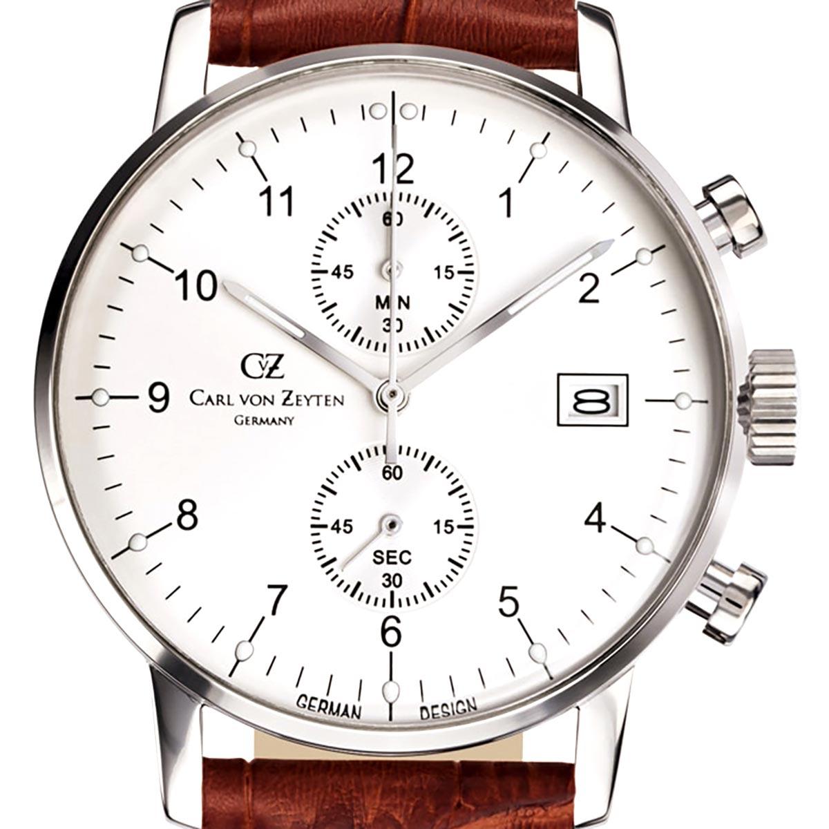 Carl von Zeyten カール・フォン・ツォイテン 電池式クォーツ 腕時計 [CvZ0007WH] 正規品  クロノグラフ