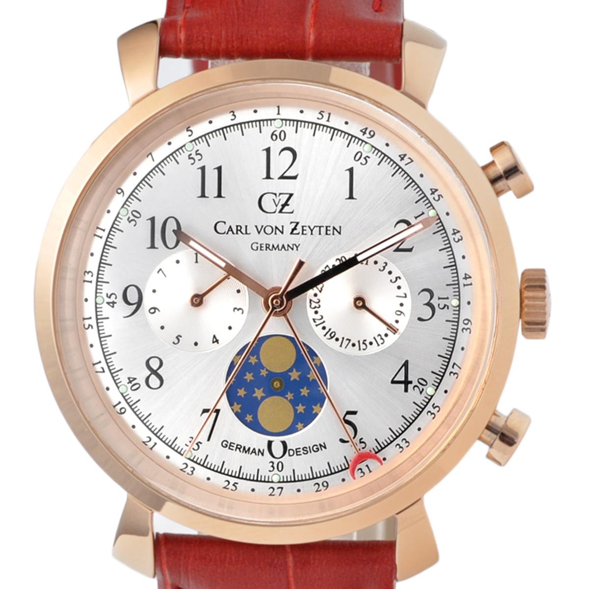 Carl von Zeyten カール・フォン・ツォイテン 電池式クォーツ 腕時計 [CvZ0015RSL] 正規品  カレンダー 月齢表示