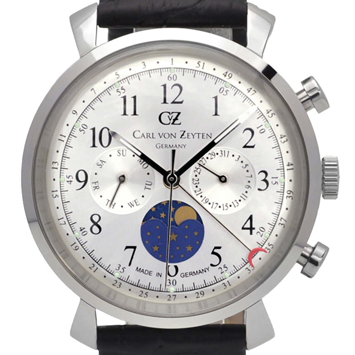 Carl von Zeyten カール・フォン・ツォイテン 電池式クォーツ 腕時計 [CvZ0015SL] 正規品  カレンダー デイ&ナイト(サン&ムーン)