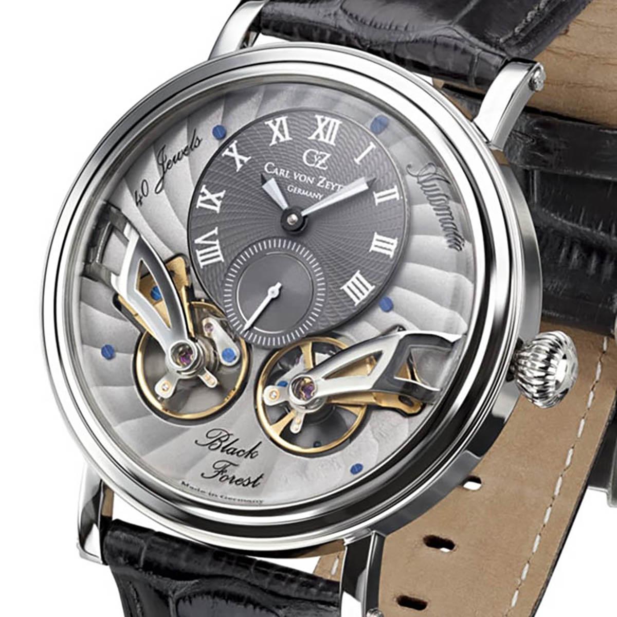 Carl von Zeyten カール・フォン・ツォイテン 自動巻き(手巻き機能あり) 腕時計 [CvZ0017SGY] 正規品 スケルトン ダブルテンプ