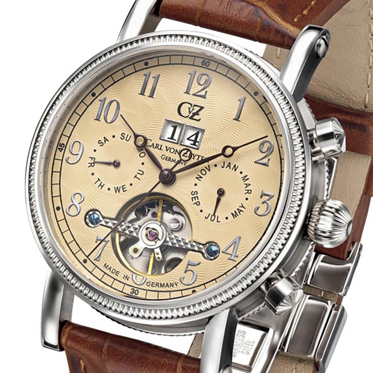 Carl von Zeyten カール・フォン・ツォイテン 自動巻き(手巻き機能あり) 腕時計 [CvZ0028CR] 正規品  カレンダー