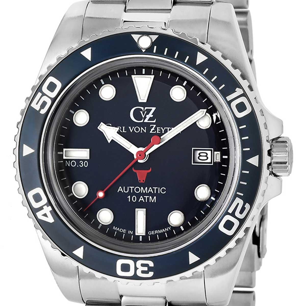 Carl von Zeyten カール・フォン・ツォイテン 自動巻き(手巻き機能あり) 腕時計 [CvZ0030BLMB] 並行輸入品  カレンダー