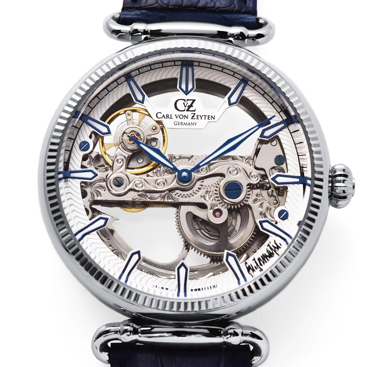 Carl von Zeyten カール・フォン・ツォイテン ELZACH エルツァッハ 自動巻き(手巻き機能あり) 腕時計 [CvZ0031WH] 正規代理店品