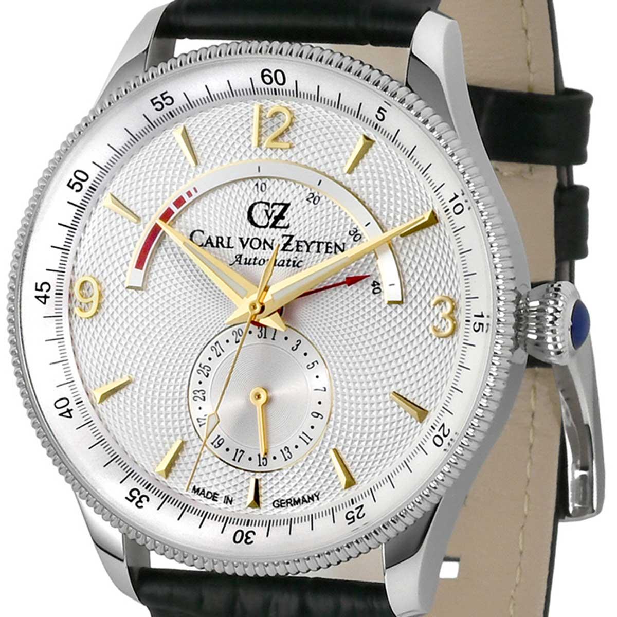 Carl von Zeyten カール・フォン・ツォイテン 自動巻き(手巻き機能あり) 腕時計 [CvZ0032WH] 並行輸入品  カレンダー パワーリザーブ