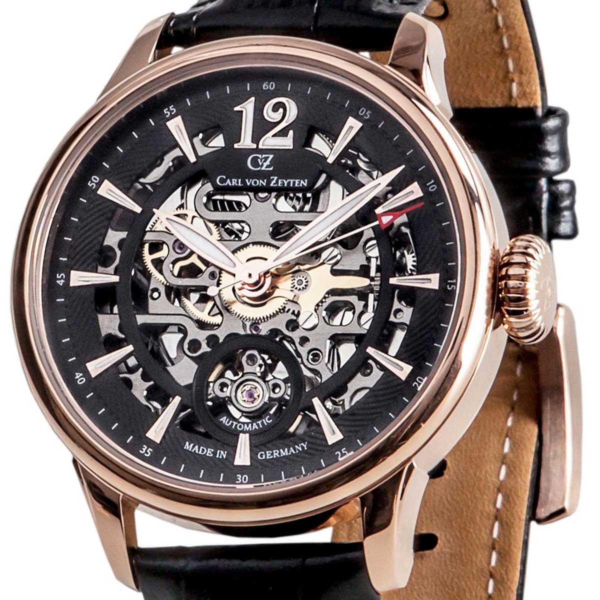 Carl von Zeyten カール・フォン・ツォイテン 自動巻き(手巻き機能あり) 腕時計 [CvZ0051RBK] 正規代理店品