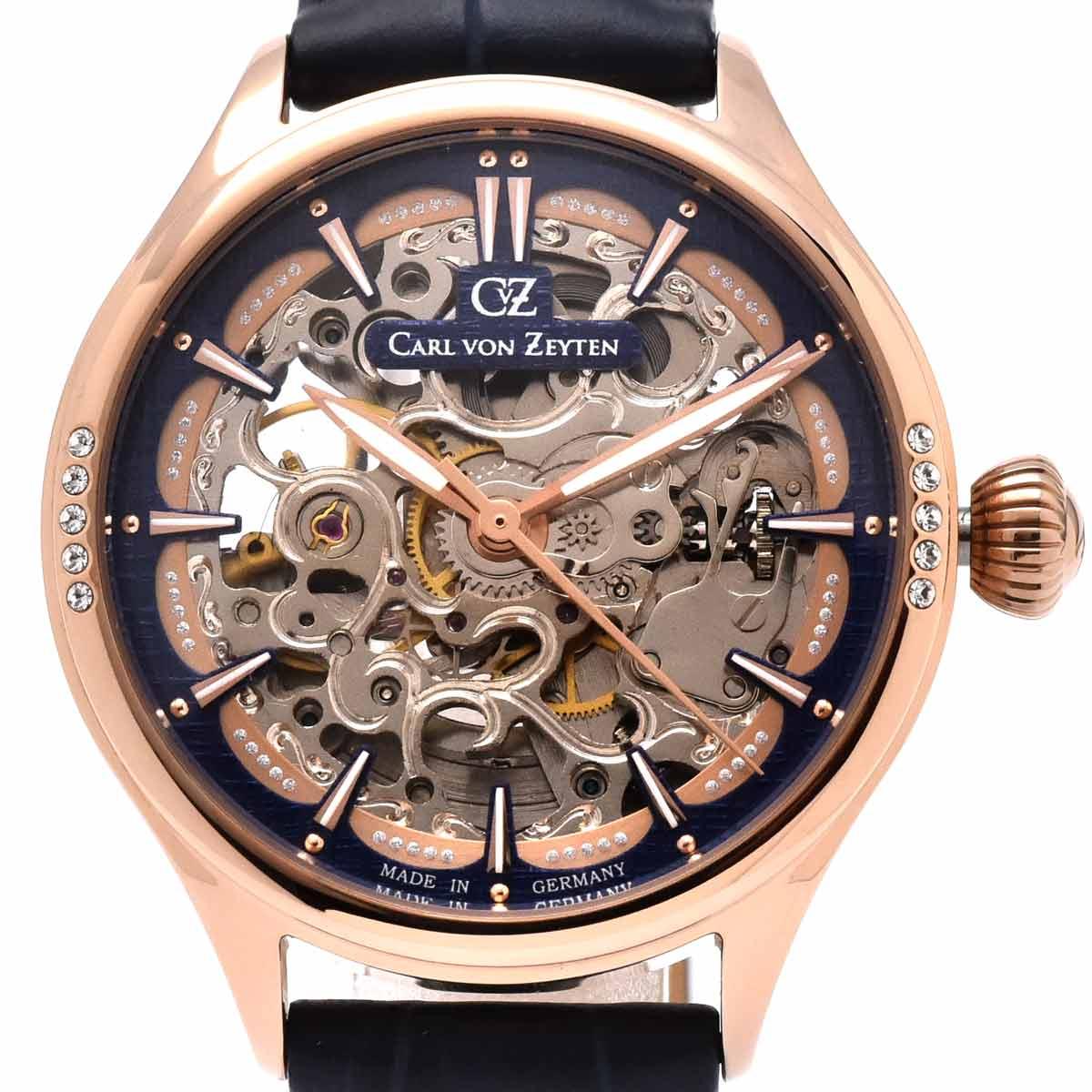 Carl von Zeyten カール・フォン・ツォイテン 自動巻き(手巻き機能あり) 腕時計 [CvZ0057RBL] 並行輸入品 スケルトン