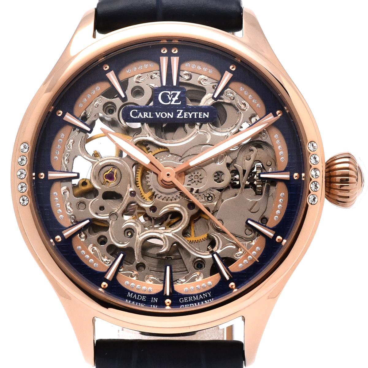 Carl von Zeyten カール・フォン・ツォイテン 自動巻き(手巻き機能あり) 腕時計 [CvZ0057RBL] 正規代理店品 スケルトン