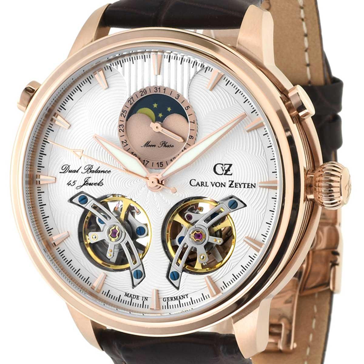 Carl von Zeyten カール・フォン・ツォイテン 自動巻き(手巻き機能あり) 腕時計 [CvZ0060RWH] 正規代理店品  ムーンフェイズ