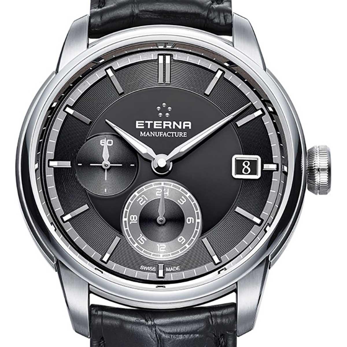 Eterna エテルナ 自動巻き(手巻き機能あり) 腕時計 [7661-41-46-1324] 並行輸入品 カレンダー GMT(ワールドタイム)