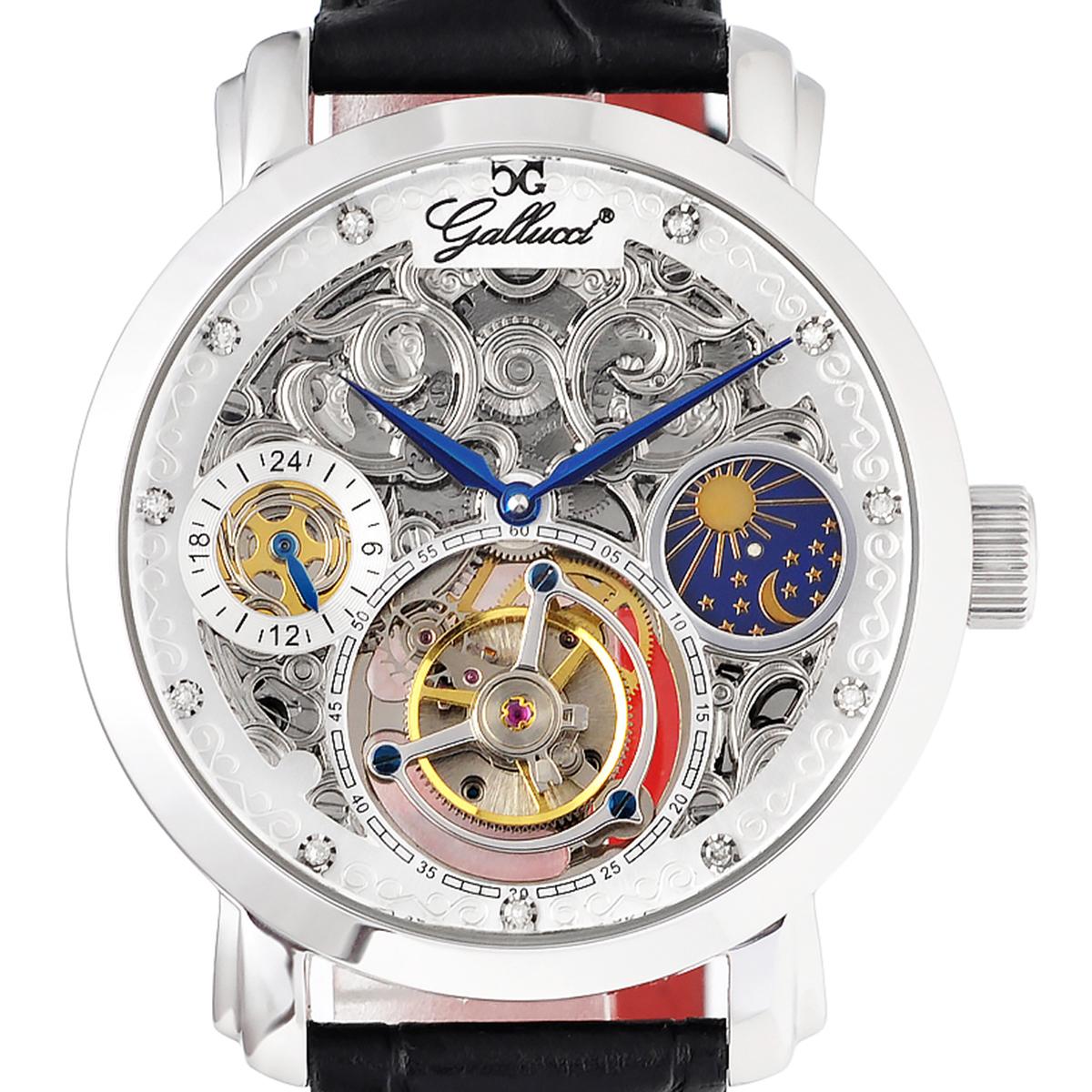 Gallucci ガルーチ 機械式手巻き腕時計 [WT23702TU] 並行輸入品 トゥールビヨン Tourbillon デイ&ナイト(SUN&MOON)