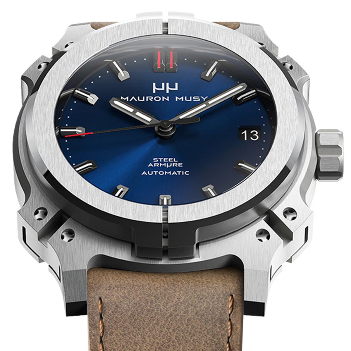 【残り1点】MAURON MUSY モーロン・ミュジー 自動巻き 腕時計 [MU01-204-BrownLeather]  デイト