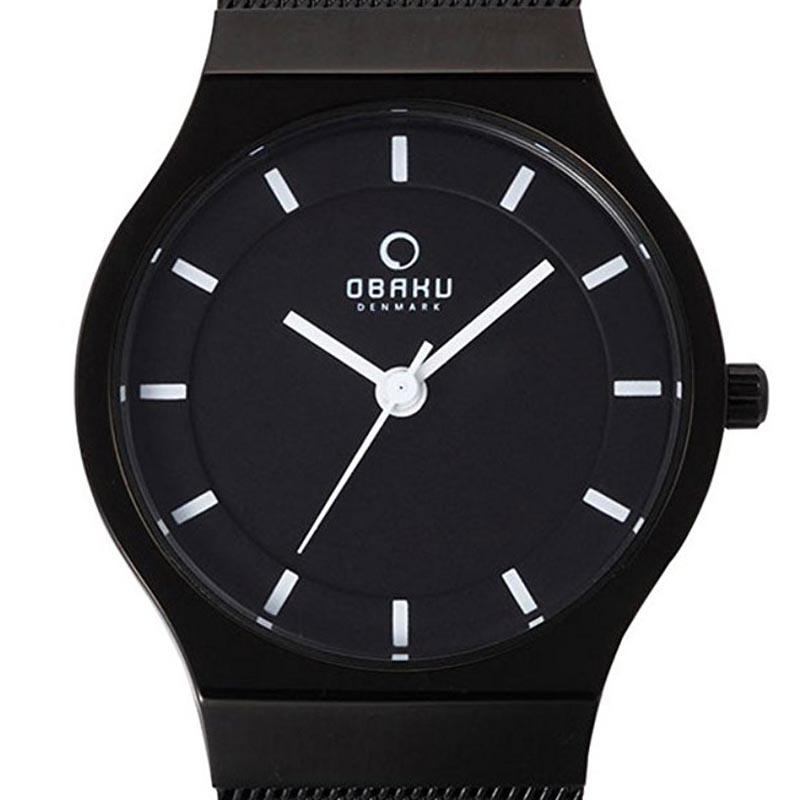 【残り1点】OBAKU オバック クォーツ 腕時計 デンマーク シンプル 薄型 ファッション [V123LBBMB] 並行輸入品 純正ケース メーカー保証