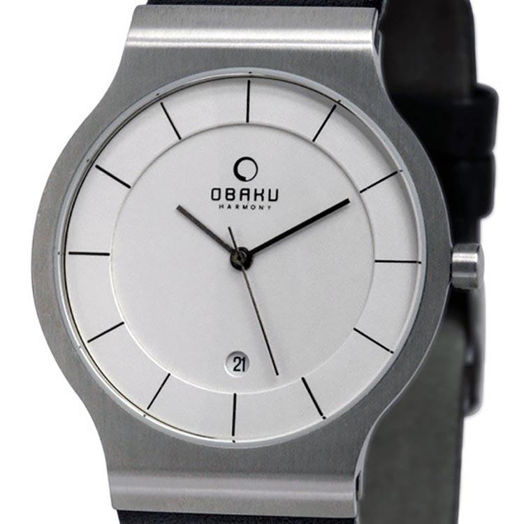 OBAKU オバック クォーツ 腕時計 デンマーク シンプル 薄型 ファッション [V133GCIRB] 並行輸入品 純正ケース メーカー保証