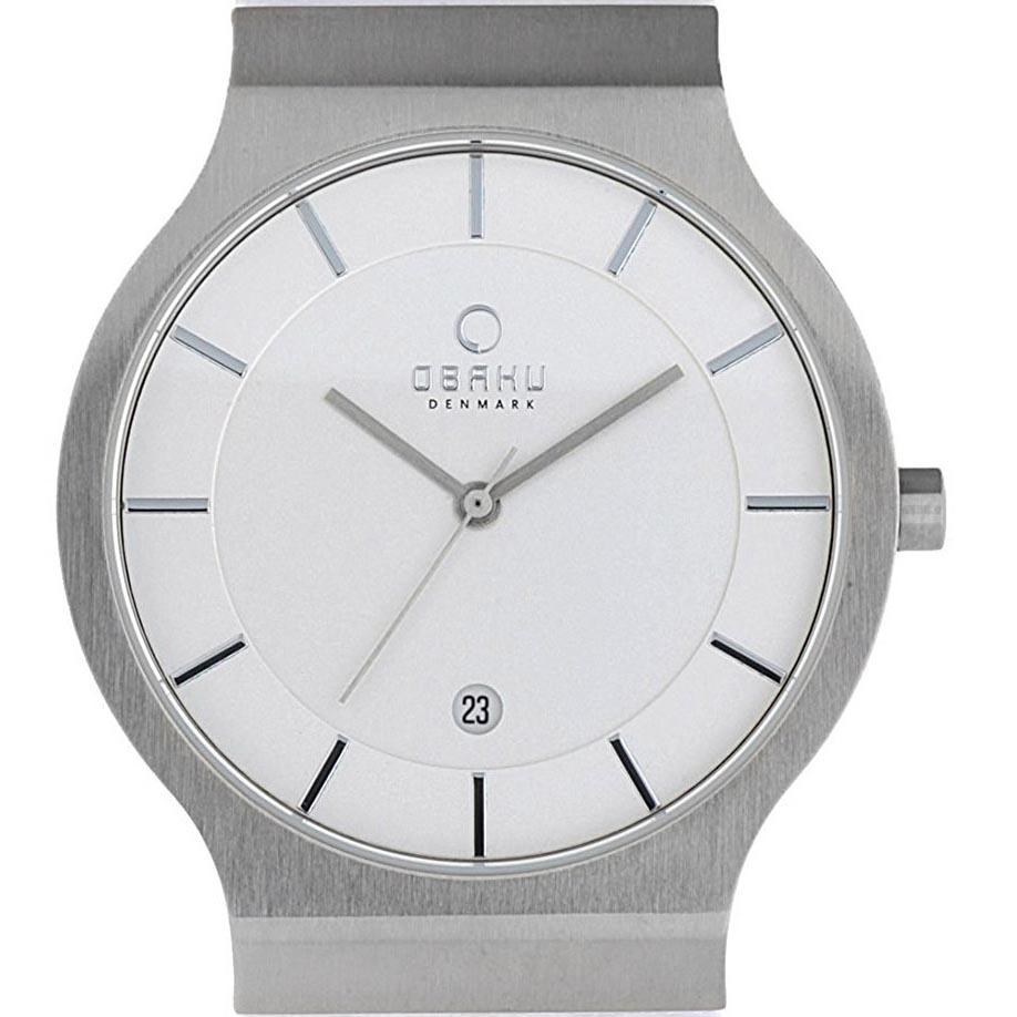 【残り1点】OBAKU オバック クォーツ 腕時計 デンマーク シンプル 薄型 ファッション [V133GCIRW1] 並行輸入品 純正ケース メーカー保証