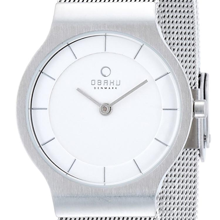 OBAKU オバック クォーツ 腕時計 デンマーク シンプル 薄型 ファッション [V133LCIMC2] 並行輸入品 純正ケース メーカー保証