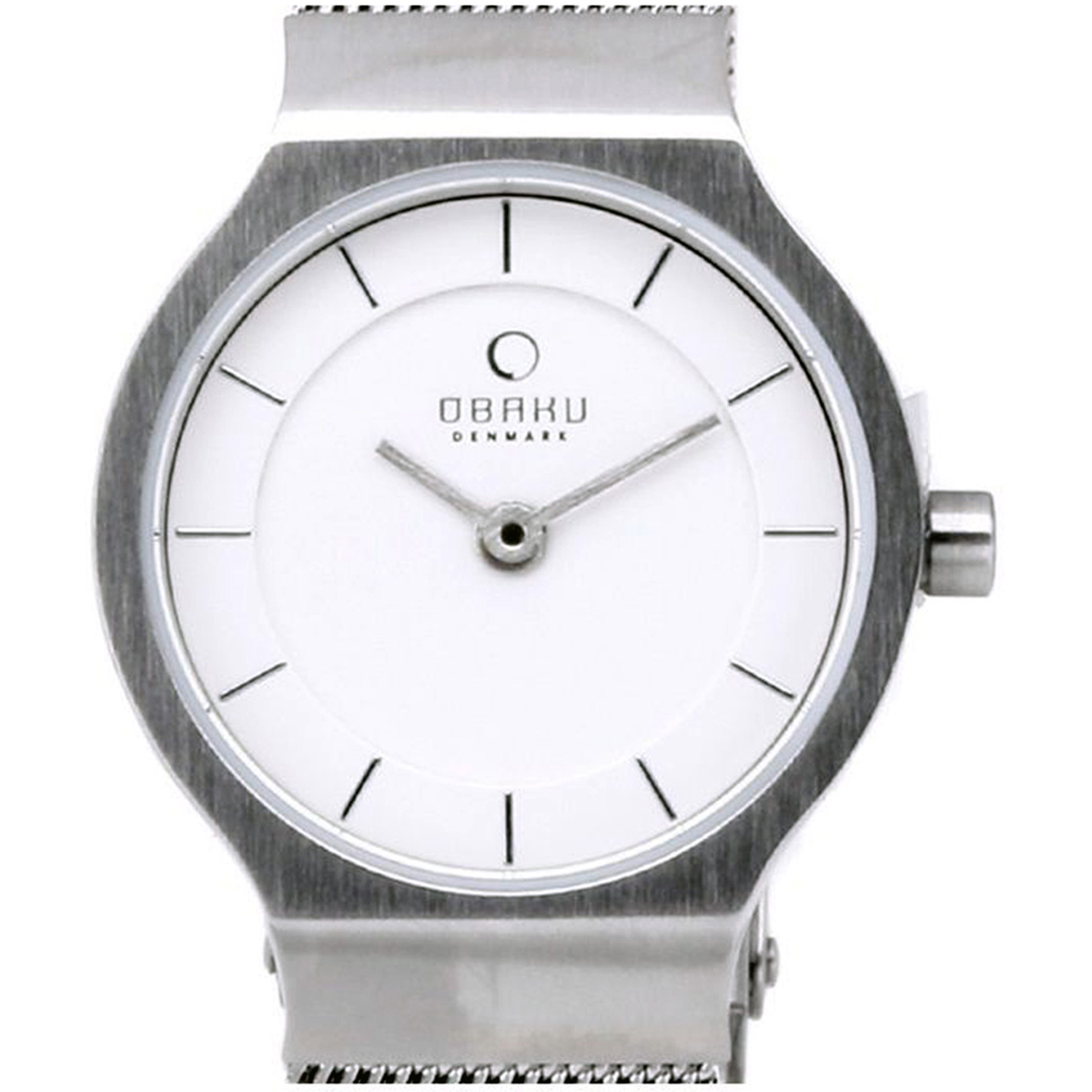 OBAKU オバック クォーツ 腕時計 デンマーク シンプル 薄型 ファッション [V133SCIMC] 並行輸入品 純正ケース メーカー保証