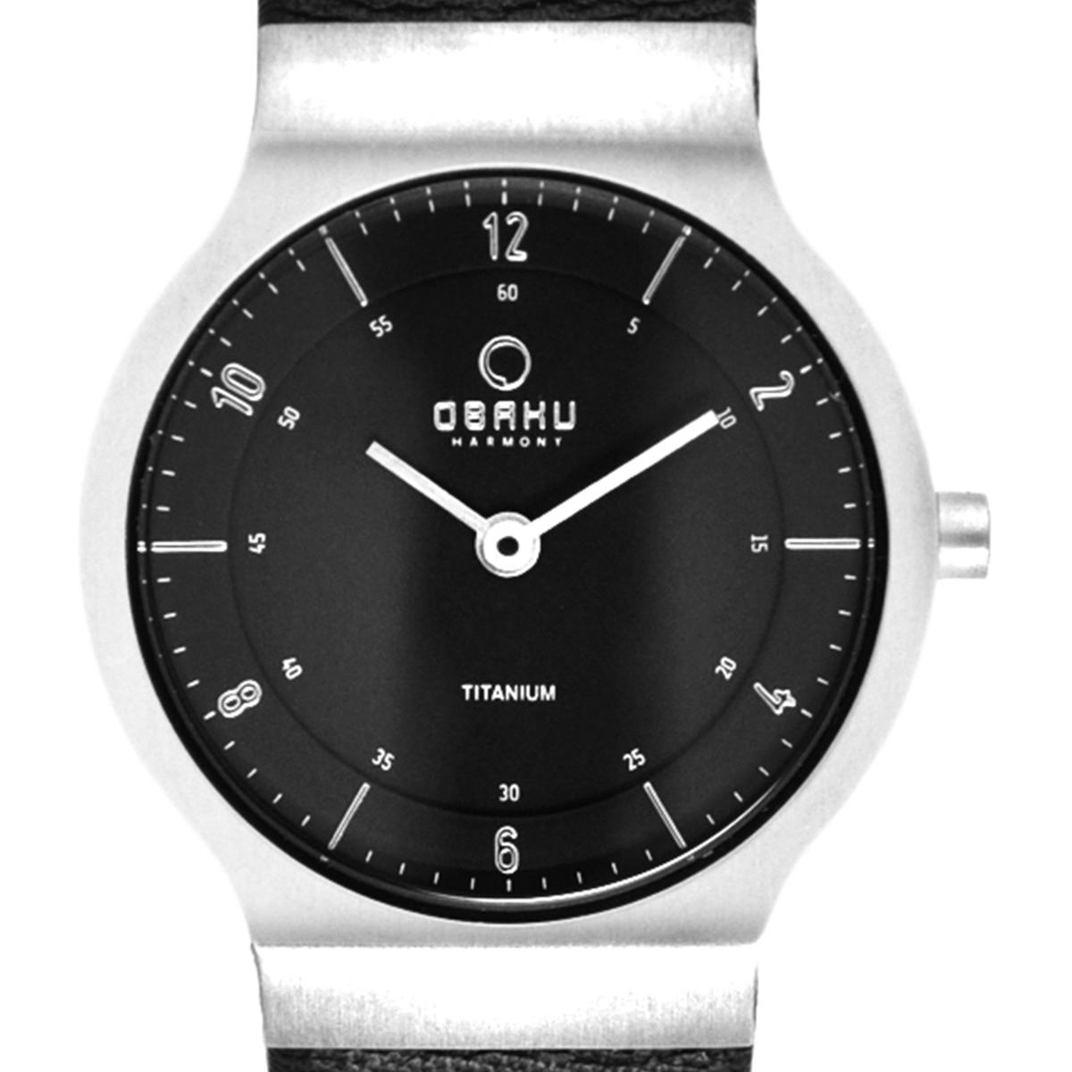 【残り1点】OBAKU オバック クォーツ 腕時計 デンマーク シンプル 薄型 ファッション [V133STBRB] 並行輸入品 純正ケース メーカー保証