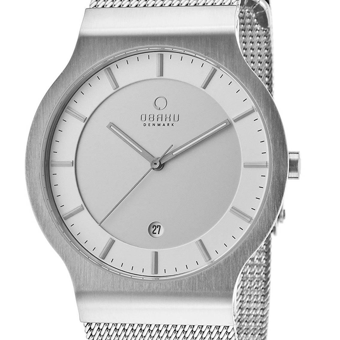 OBAKU オバック クォーツ 腕時計 デンマーク シンプル 薄型 ファッション [V133XCIMC1] 並行輸入品 純正ケース メーカー保証