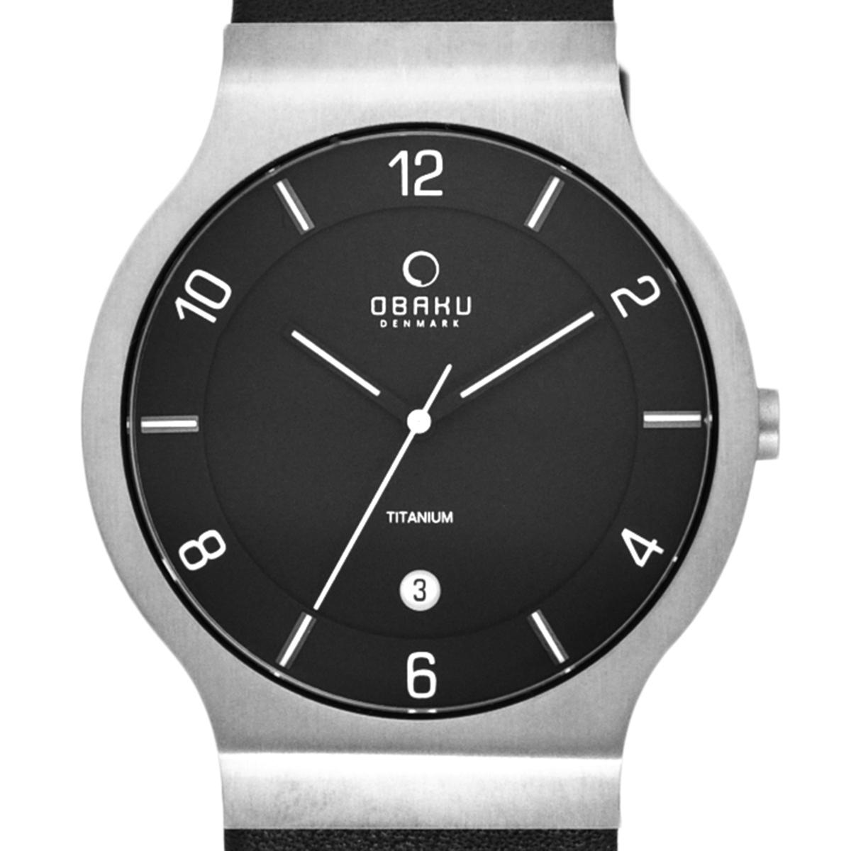 OBAKU オバック クォーツ 腕時計 デンマーク シンプル 薄型 ファッション [V133XTBRB1] 並行輸入品 純正ケース メーカー保証