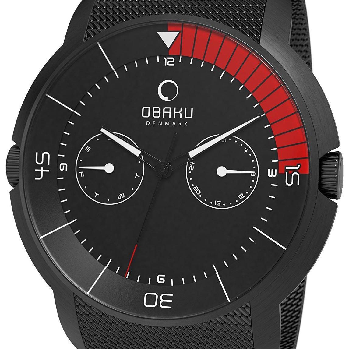 【残り1点】OBAKU オバック クォーツ 腕時計 デンマーク シンプル 薄型 ファッション [V141GBBMB] 並行輸入品 純正ケース メーカー保証