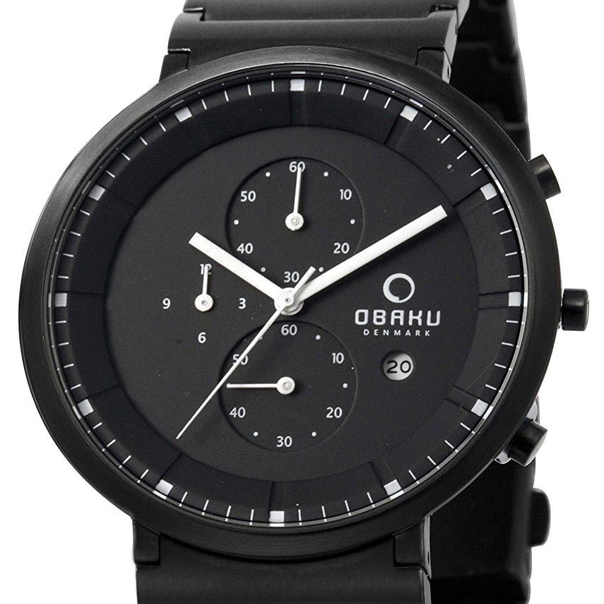 OBAKU オバック クォーツ 腕時計 デンマーク シンプル 薄型 ファッション [V147GBBSB1] 並行輸入品 純正ケース メーカー保証