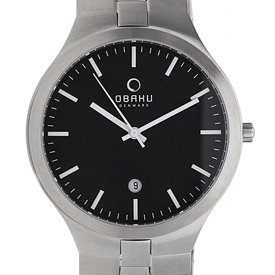 【残り1点】OBAKU オバック クォーツ 腕時計 デンマーク シンプル 薄型 ファッション [V151GCBSCH] 並行輸入品 純正ケース メーカー保証