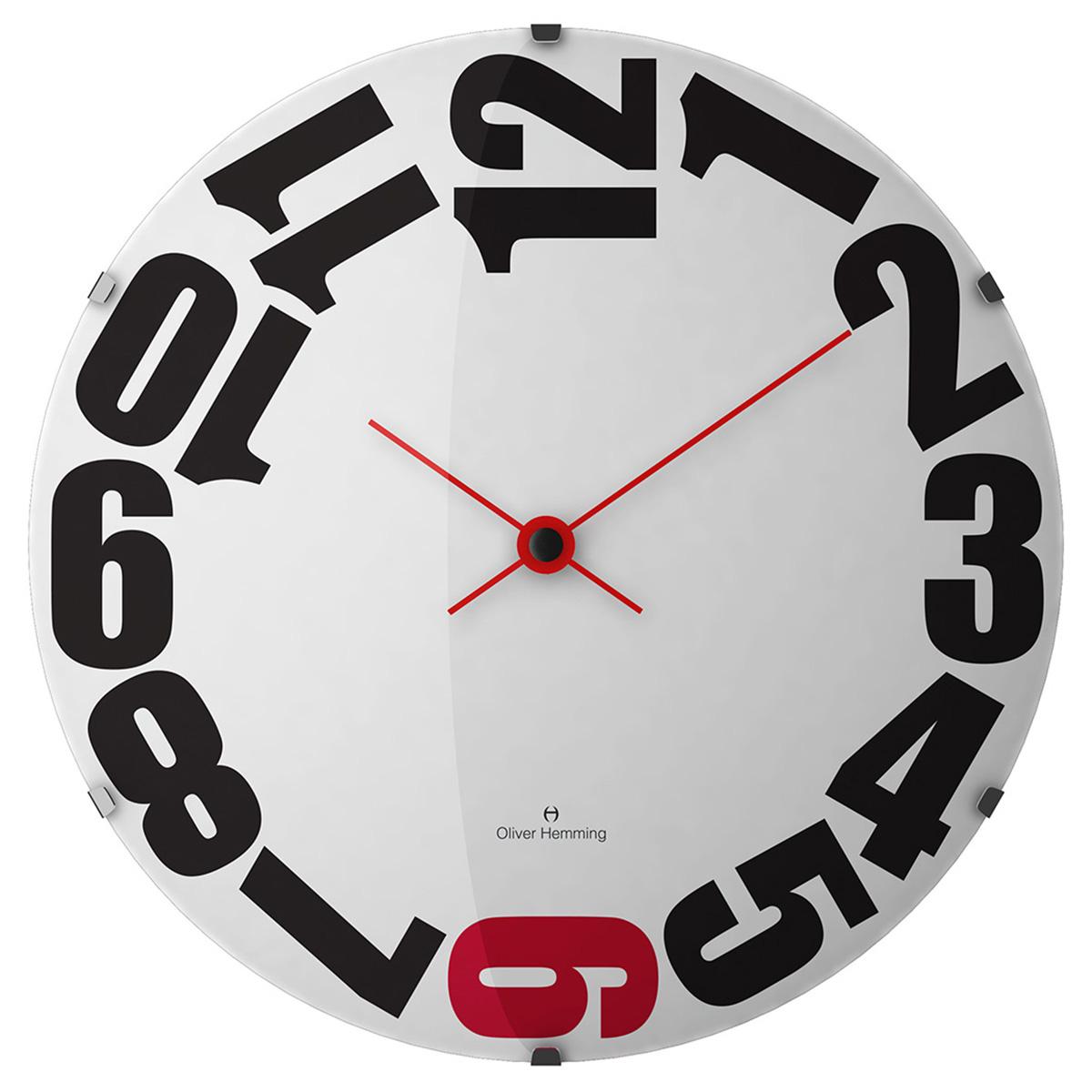 Oliver Hemming オリバーヘミング 壁掛け時計 インテリア 北欧 Vitri Domed Glass ヴィトリドームガラス 370mm [W370DG20WR] 正規品