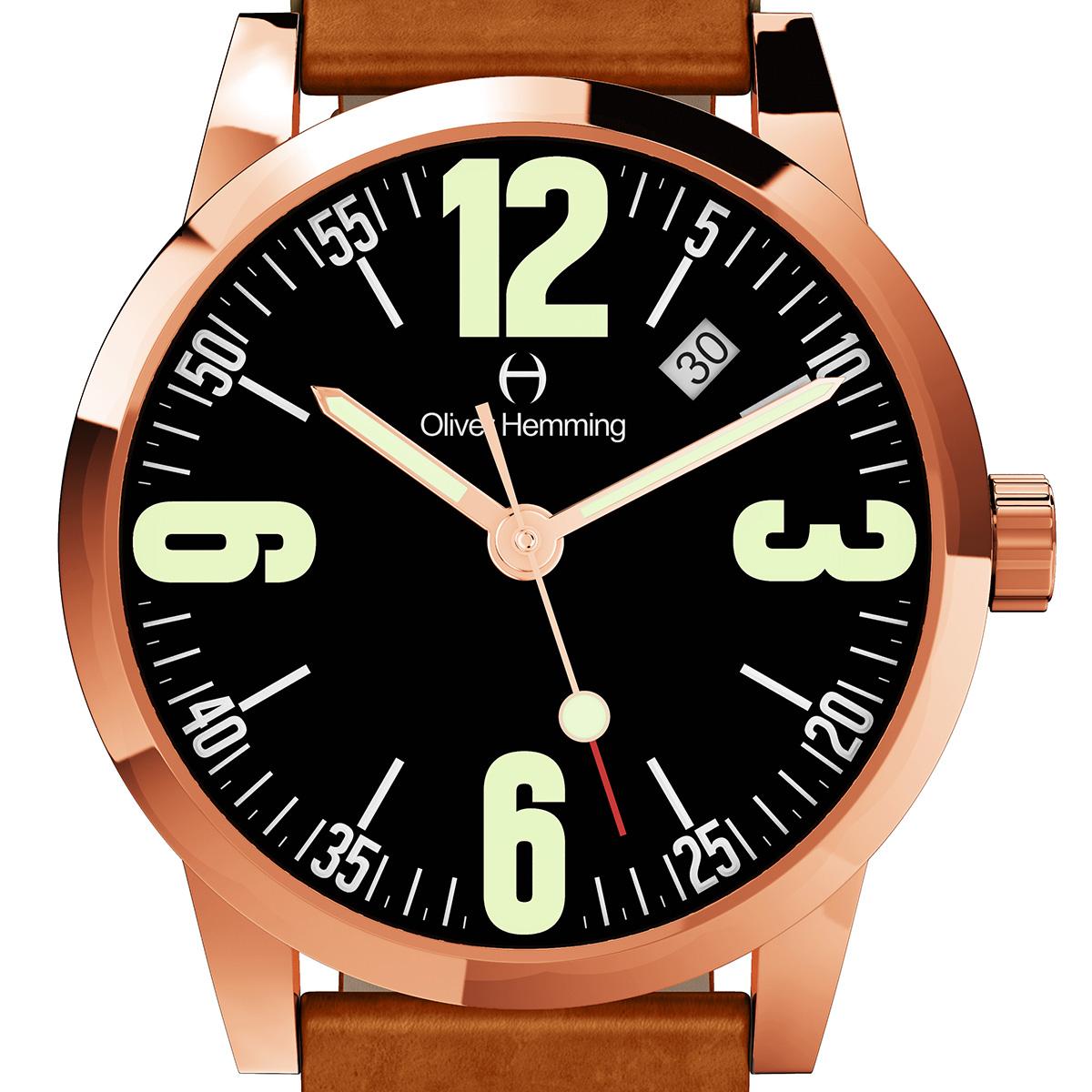 【残り1点】Oliver Hemming オリバーヘミング クォーツ 腕時計 イギリス アート デザイン [WT17R66BVT] 正規代理店品 純正ケース メーカー保証