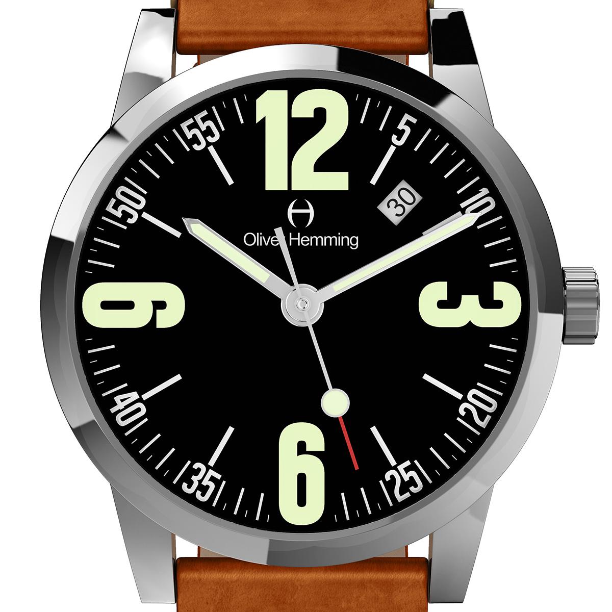 【残り1点】Oliver Hemming オリバーヘミング クォーツ 腕時計 イギリス アート デザイン [WT17S66BVT] 正規代理店品 純正ケース メーカー保証