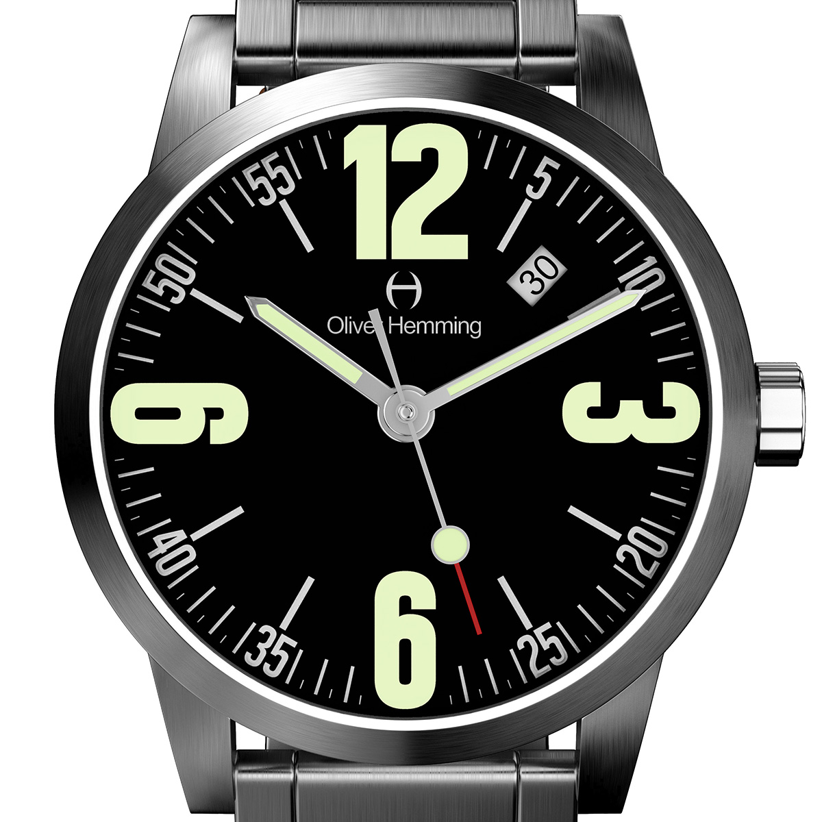 Oliver Hemming オリバーヘミング クォーツ 腕時計 イギリス アート デザイン [WT17SB66BCDSB] 正規代理店品 純正ケース メーカー保証
