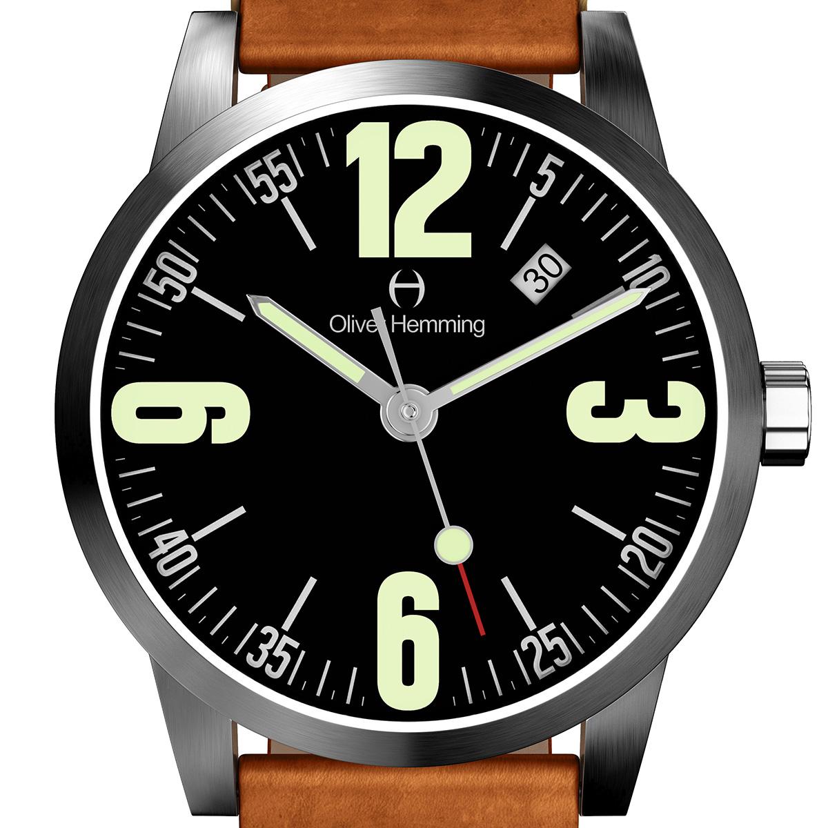 【残り1点】Oliver Hemming オリバーヘミング クォーツ 腕時計 イギリス アート デザイン [WT17SB66BVT] 正規代理店品 純正ケース メーカー保証