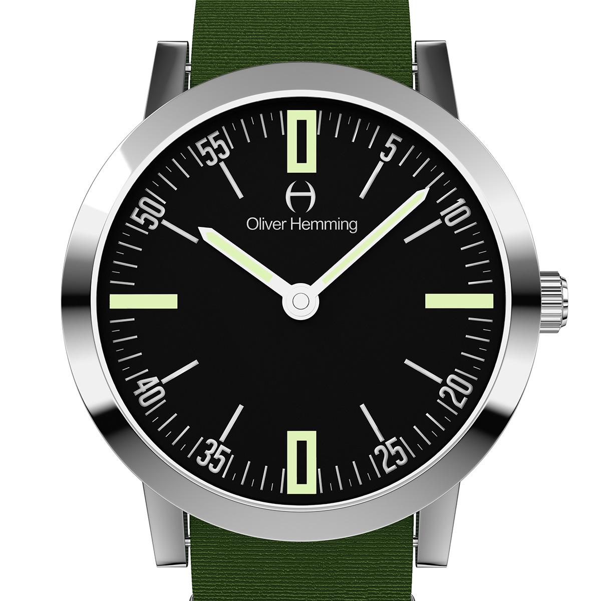 【残り1点】Oliver Hemming オリバーヘミング クォーツ 腕時計 イギリス アート デザイン [WT18S45BANC] 正規代理店品 純正ケース メーカー保証