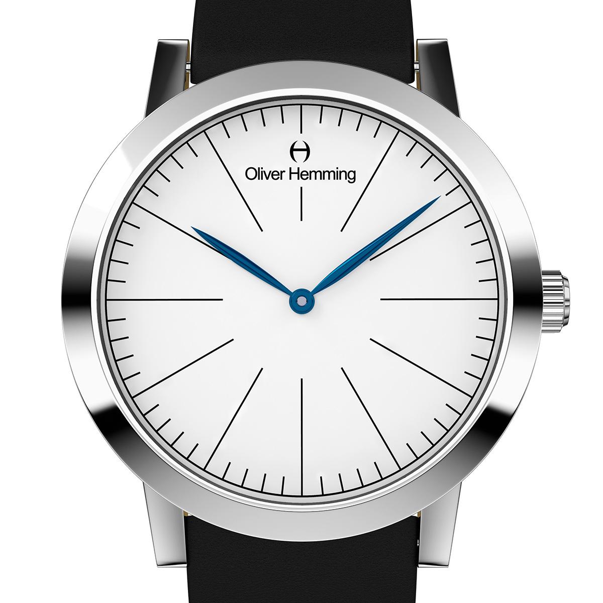 【残り1点】Oliver Hemming オリバーヘミング クォーツ 腕時計 イギリス アート デザイン [WT18S76WBL] 正規代理店品 純正ケース メーカー保証