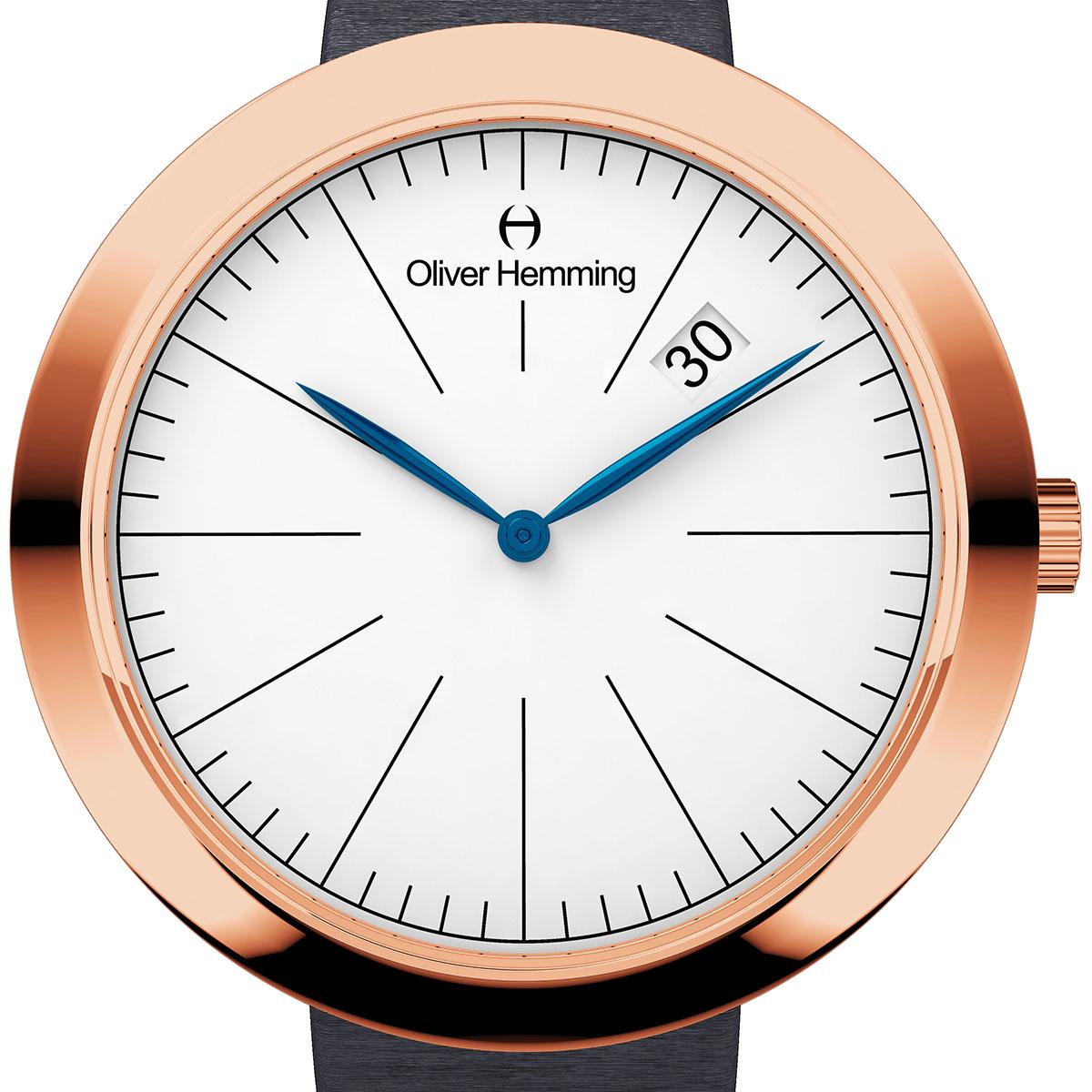 【残り1点】Oliver Hemming オリバーヘミング クォーツ 腕時計 イギリス アート デザイン [WT35R76WGS] 正規代理店品 純正ケース メーカー保証