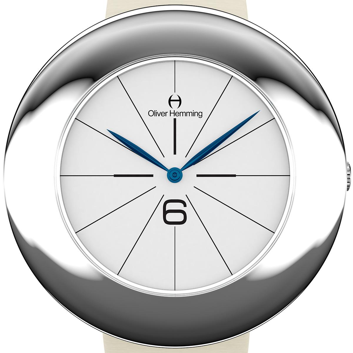 【残り1点】Oliver Hemming オリバーヘミング クォーツ 腕時計 イギリス アート デザイン [WT36S26WIS] 正規代理店品 純正ケース メーカー保証