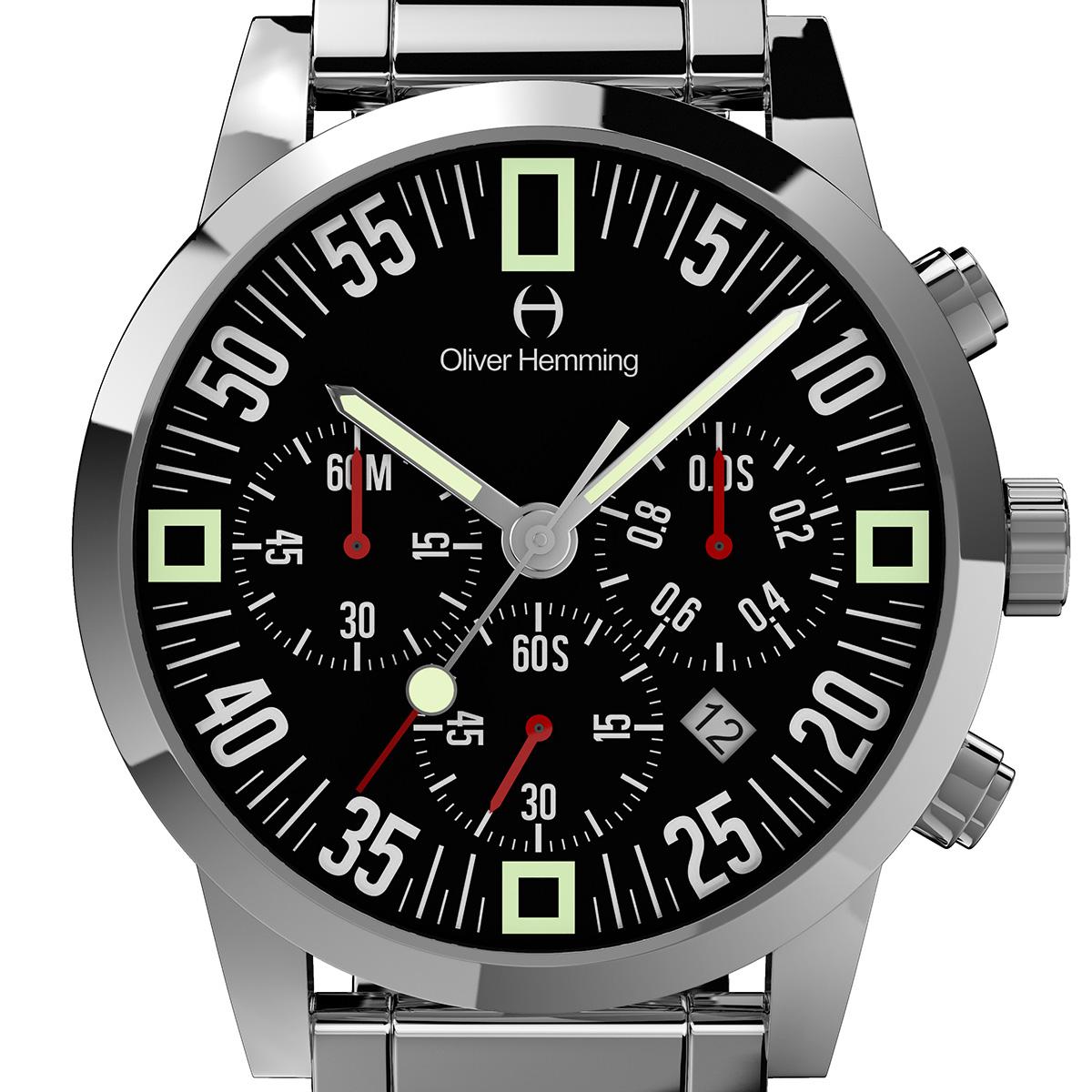 Oliver Hemming オリバーヘミング クォーツ 腕時計 イギリス アート デザイン [WTC17S80BCD] 正規代理店品 純正ケース メーカー保証