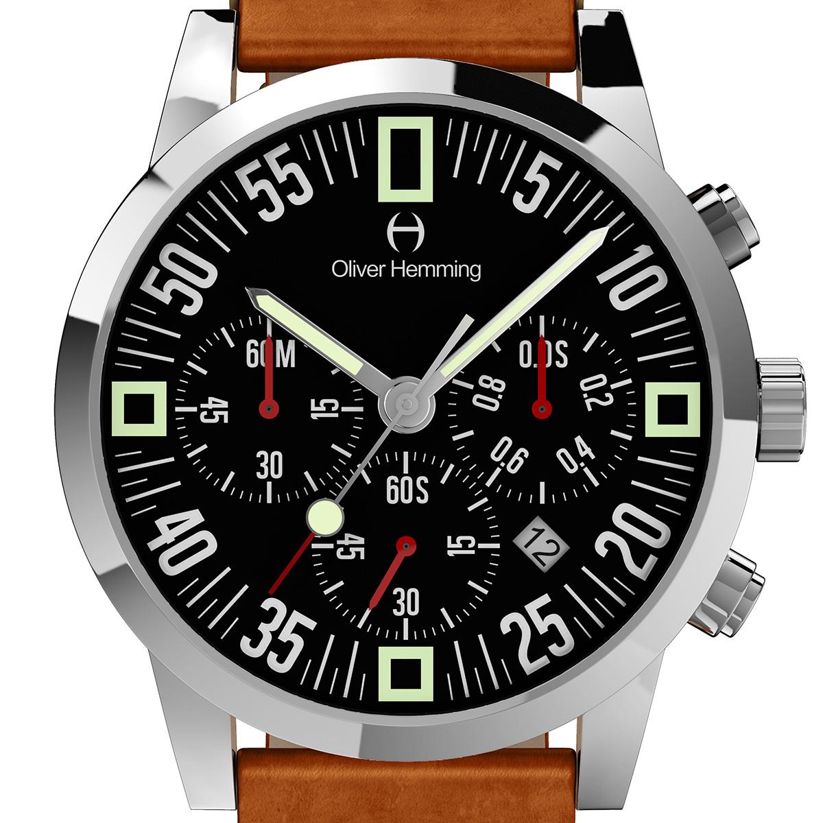 Oliver Hemming オリバーヘミング クォーツ 腕時計 イギリス アート デザイン [WTC17S80BVT] 正規代理店品 純正ケース メーカー保証