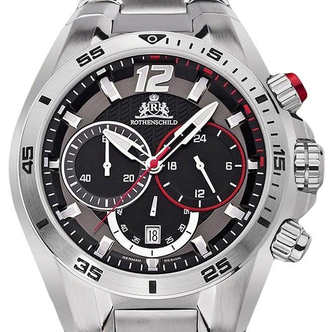 【残り1点】Rothenschild ローテンシルト 腕時計 メンズ [rs-1305-sr] 並行輸入品 メーカー保証24ヵ月 純正ケース付き