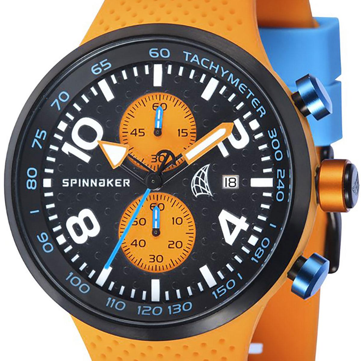 【残り1点】SPINNAKER スピネーカー 電池式クォーツ 腕時計 [SP-5029-01] 並行輸入品  デイト クロノグラフ タキメーターベゼル