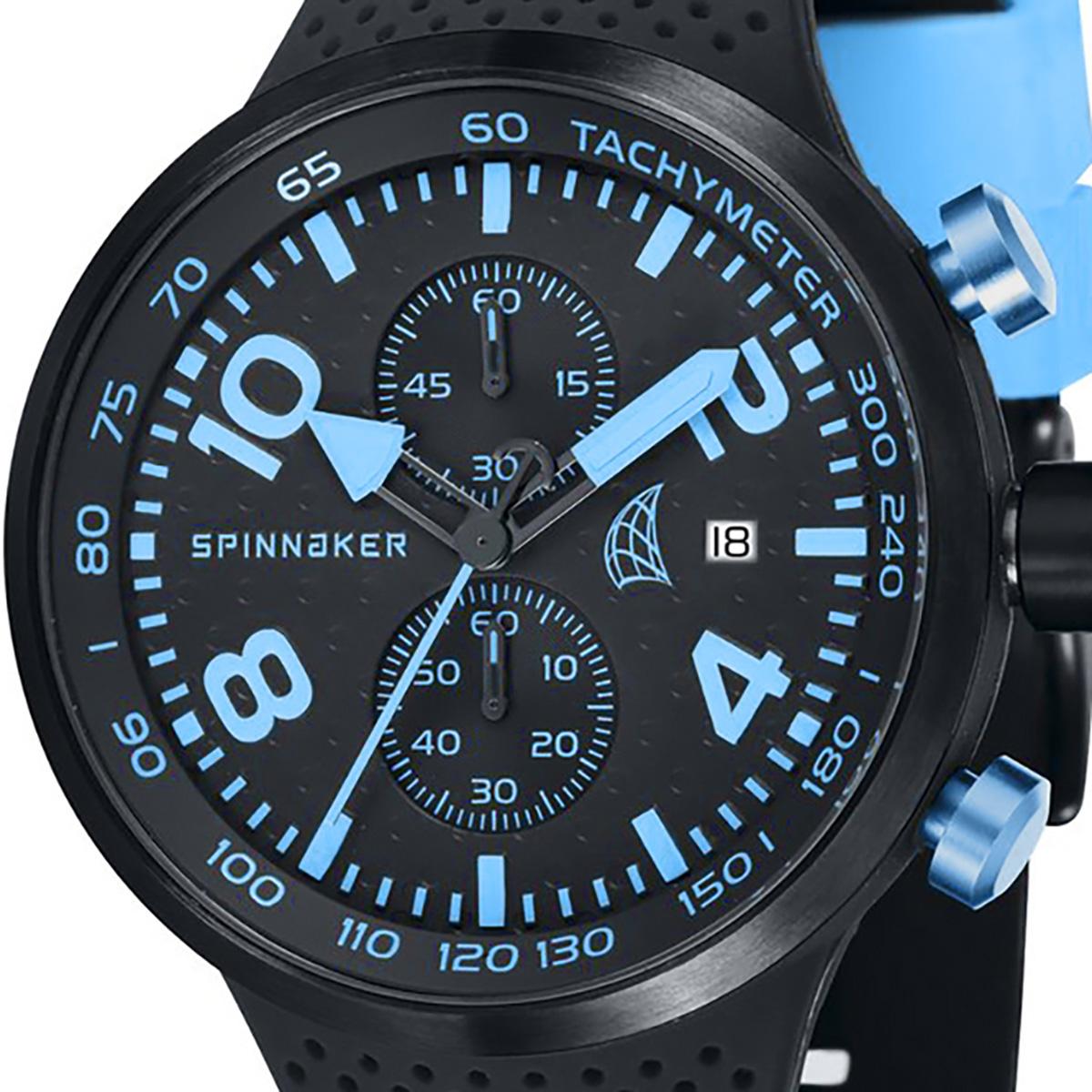 SPINNAKER スピネーカー 電池式クォーツ 腕時計 [SP-5029-04] 並行輸入品  デイト クロノグラフ タキメーターベゼル