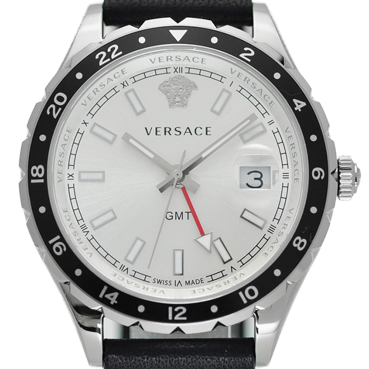 Versace ヴェルサーチ 電池式クォーツ 腕時計 [V11070017] 並行輸入品  デイト カレンダー GMT(ワールドタイム)