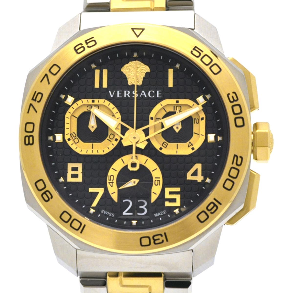 【残り1点】Versace ヴェルサーチ 電池式クォーツ 腕時計 [VQC100016] 並行輸入品  デイト カレンダー クロノグラフ