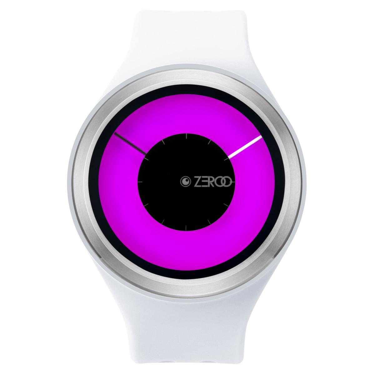 ZEROO MAGIA AURORA ゼロ 電池式クォーツ 腕時計 [W00801B01SR01] ホワイト デザインウォッチ ペア用 メンズ レディース ユニセックス おしゃれ時計 デザイナーズ