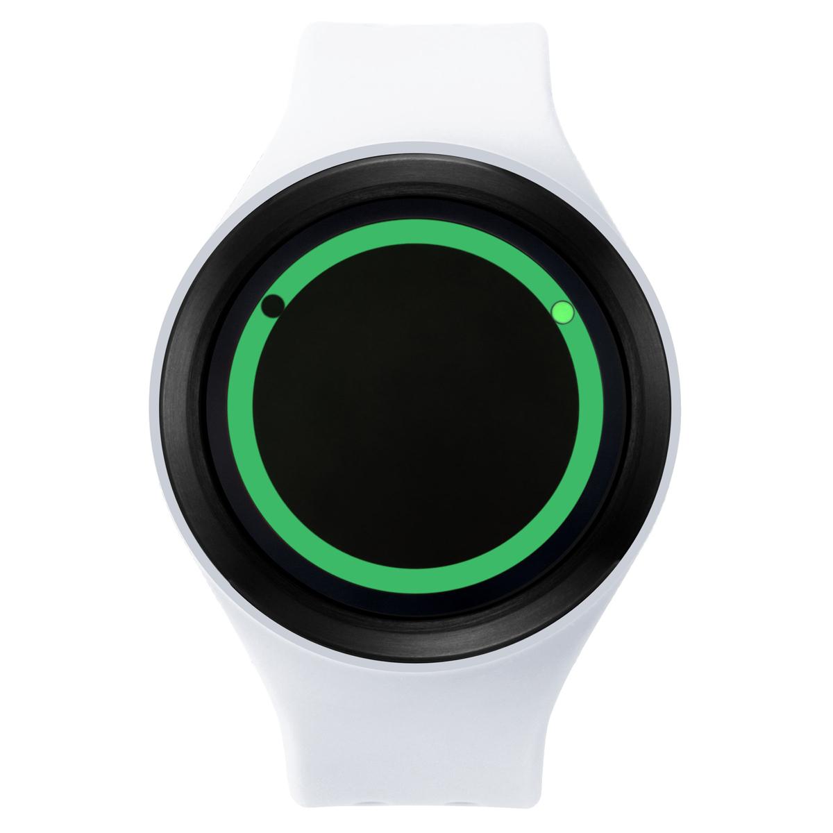 ZEROO PLANET ECLIPSE ゼロ 電池式クォーツ 腕時計 [W00902B03SR01] ホワイト デザインウォッチ ペア用 メンズ レディース ユニセックス おしゃれ時計 デザイナーズ