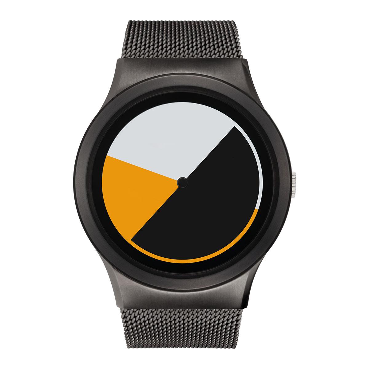 ZEROO COLORED TIME ゼロ 電池式クォーツ 腕時計 [W01001B02SM02] イエロー デザインウォッチ ペア用 メンズ レディース ユニセックス おしゃれ時計 デザイナーズ